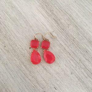 Kate Spade pink drop crystal earring